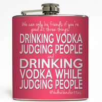 Judging People - Vodka Vendetta Flask