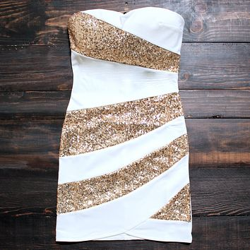 Final Sale - Snow Party Dress in White