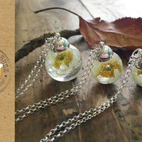 Paper Daisy Flowers Necklace