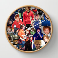 Ed Sheeran Collage Wall Clock by Fangirling