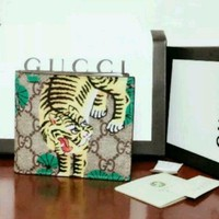 NEW AUTHENTIC GUCCI MEN'S/WOMEN BENGAL TIGER Bifold WALLET