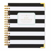 January 2018 Daily Planner: Black Stripe - Day Designer
