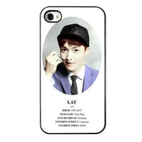 KPOP EXO MEMBER XOXO IPHONE4 CASE (LAY)