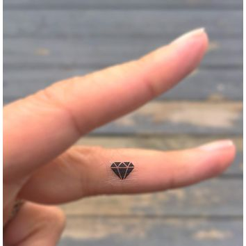 tiny black diamond tattoos set of 20 fake tattoos temporary tattoos
