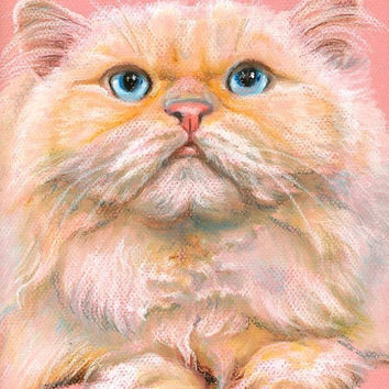 Custom pet portrait, cat, dog, Pastel drawing from photos, Personalized gift for pet lovers. Original painting on request