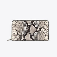Tory Burch Robinson Embossed Zip Continental