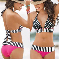 Sexy Women's Swimwear Push-Up Bikini Set Bandeau Padded Bra Swimsuit Beachwear = 1956927108