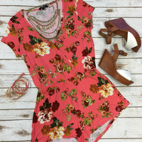 Roses in the Clouds Romper: Pink
