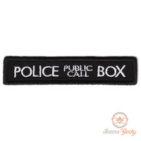 """Doctor Who TARDIS """"Police Box"""" Inspired - Iron-on Patch"""