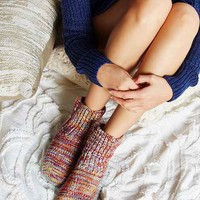 Mixed Stitch Knit Slipper Sock