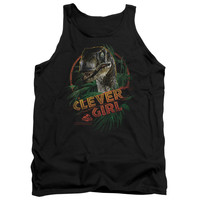 JURASSIC PARK/CLEVER GIRL - ADULT TANK - BLACK -