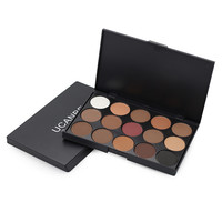 3 Style New fashion 15 Earth Color Matte Pigment Eyeshadow Palette Cosmetic Makeup Eye Shadow for women