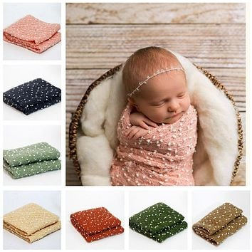 Knit Stretch Nubble Newborn Baby Wrap Photo Prop (Multiple Colors)