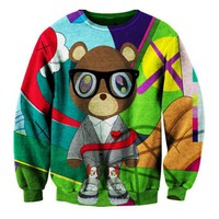 New Arrival Fashion sweatshirt Cartoon Bear 3D Printing Sweatshirt Men Tracksuit Hoody Casual Men Sportstyle Pullover