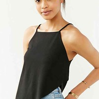 Silence + Noise Fold-Over Cami- Black