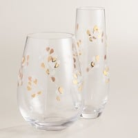 Etched Branches Glassware