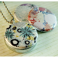 Floral Locket Necklace - Interchangeable, Magnetic and Recycled by Polarity