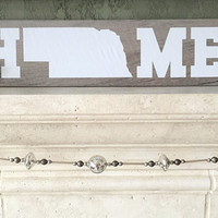 Country Home Decor - Nebraska - Home Sign - Wood Signs - Wooden - Tile - Customizable - Customized - Housewarming Gift - New Home Gift