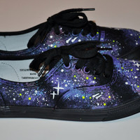 Purple Galaxy Lace Up Shoes