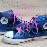 Galaxy Shoes 2013 galaxy converse galaxy converse high tops custom converse hand painted shoes custom converse shoes
