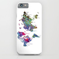 World Map Watercolor iPhone & iPod Case by Bitter Moon