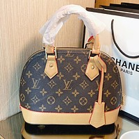 LV New fashion monogram leather shell shoulder bag crossbody bag handbag