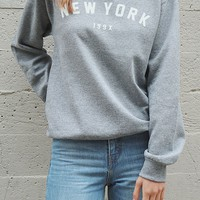 New York 199x Oversized Sweatshirt - Grey