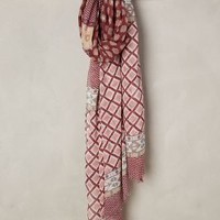 Oshu Panel Scarf by Anthropologie in Pink Size: One Size Scarves