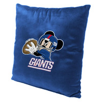 New York Giants NFL and Disney's Mickey Mouse Plush Toss Pillow (16in x 16in)