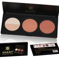SHANY Cosmetics Amber Peach Contour and Blush Palette for Light and Medium Complexion, 11 Ounce