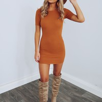 Just Passing Through Dress: Burnt Orange