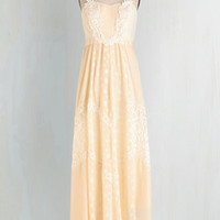 Vintage Inspired Long Spaghetti Straps Maxi Yes and Glow Dress