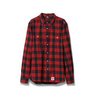 Ox Flannel Shirt in Red