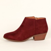 Curious Traveler Ankle Bootie Vino