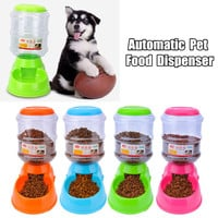 Plastic  Automatic Pet Feeder Food Drink Dispenser 3.5L Dog Cat Water Bowl Dish Plate Pet Puppy Cat Feeding Tools Accessories