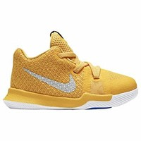 Nike Kyrie 3 Mac and Cheese Toddler Boys Shoe University Gold/Chrome/White/Game Royal