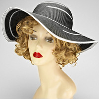 Black & White Wide Brim Summer Hat