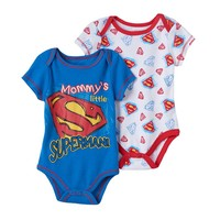 DC Comics Superman 2-pk. ''Mommy's Little Superman'' Bodysuits - Baby Boy, Size:
