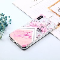 Marble Flowers Soft Case