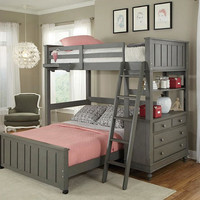Boardwalk Twin Size L Shape Loft Bed