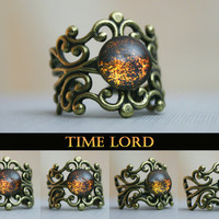 Time Lord Inspired Antique Bronze Ring