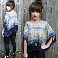 Handmade hippie/boho CROPPED TOP with FRINGE detail