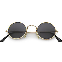 Small Round Dapper True Vintage Metal Sunglasses C669