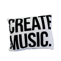 create music - White Pillow - Accessories - Aspire And Create - Brands - Paper Alligator