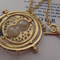 Bib necklace 18K Harry Potter Jewelry Hermione Granger Time Turner Necklace