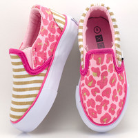 Pink & Tan Tabby Slip-On Sneaker | something special every day