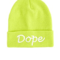 """""""Dope"""" Fold-Over Beanie: Charlotte Russe"""