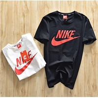 NIKE 2018 spring and summer classic couple short-sleeved T-shirt F0577-1 black