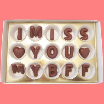 I Miss You My BFF Large Milk Chocolate Letters