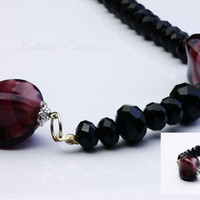 Womens Jewellery / Beaded Necklace and Matching Bracelet / Fashion Statement Matching Necklace and Bracelet.